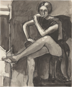 This beautiful and powerful drawing will be on view at the Richmond Art Center  in the exhibition, Closely Considered : Diebenkorn in Berkeley. It is done in ink and charcoal on paper and dates from 1964. copyright Richard Diebenkorn Foundation, all rights reserved